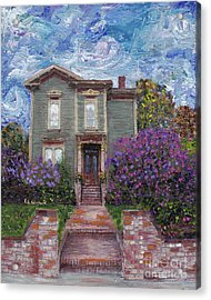 Acrylic Print featuring the painting Alameda 1888 - Italianate by Linda Weinstock