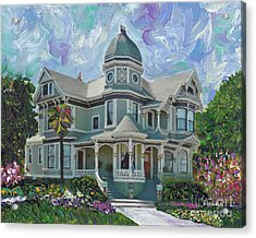 Alameda 1893  Queen Anne  Acrylic Print by Linda Weinstock