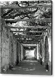 Alamo Corridor Acrylic Print by Debbie Karnes