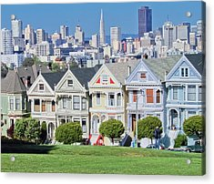 Acrylic Print featuring the photograph Alamo Square by Matthew Bamberg