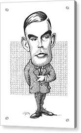 Alan Turing, British Mathematician Acrylic Print by Gary Brown