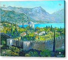 Alanya Turkey Acrylic Print by Lou Ann Bagnall