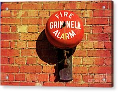 Acrylic Print featuring the photograph Alarm Bell by Stephen Mitchell