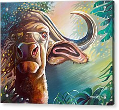 Acrylic Print featuring the painting Alarmed by Anthony Mwangi