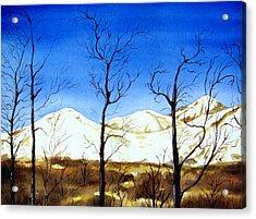 Alaska Blue Sky Day  Acrylic Print by Brenda Owen