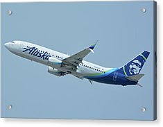 Acrylic Print featuring the photograph Alaska Boeing 737-890 N563as Los Angeles International Airport May 3 2016 by Brian Lockett