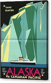 Alaska Canadian Pacific - Vintage Poster Folded Acrylic Print