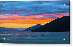 Alaska Fishermans Sunset Acrylic Print