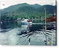 Acrylic Print featuring the photograph Alaska Fishing by Judyann Matthews