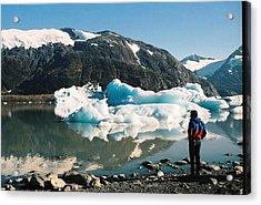 Acrylic Print featuring the photograph Alaska Glacier Lake by Judyann Matthews
