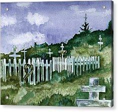 Alaska Graveyard  Acrylic Print by Brenda Owen