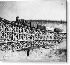 Alaska: Railroad, 1916 Acrylic Print by Granger