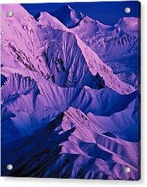 Alaska Range Twilight Acrylic Print by Tim Rayburn
