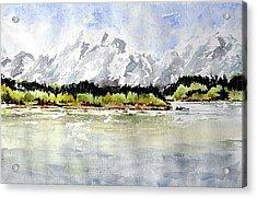 Alaska Solitude Acrylic Print by Wilfred McOstrich