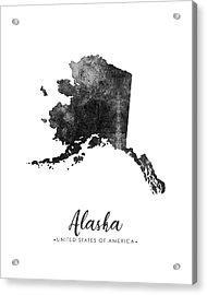 Alaska State Map Art - Grunge Silhouette Acrylic Print
