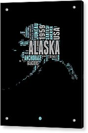 Alaska Word Cloud 1 Acrylic Print