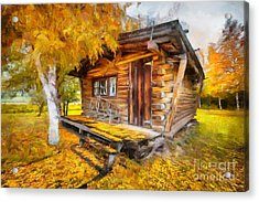 Acrylic Print featuring the painting Alaskan Autumn by Eva Lechner