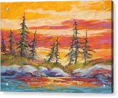 Alaskan Skies Acrylic Print by Marion Rose
