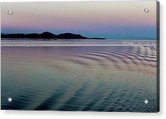 Alaskan Sunset At Sea Acrylic Print