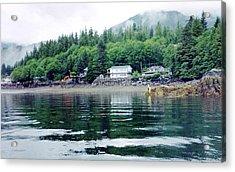 Acrylic Print featuring the photograph Alaskan Village by Judyann Matthews
