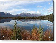 Reflections At Alaska's Mentasta Lake Acrylic Print