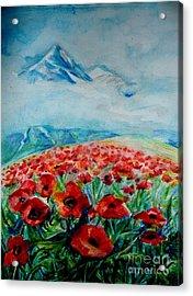 Alatau Acrylic Print by Anna  Duyunova