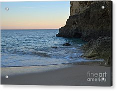 Albandeira Beach Welcoming Twilight 2 Acrylic Print by Angelo DeVal