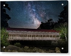 Albany Covered Bridge Under The Milky Way Acrylic Print