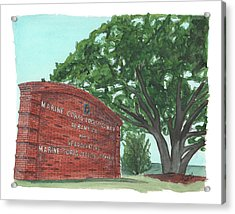Albany Logistics Base Welcme Acrylic Print