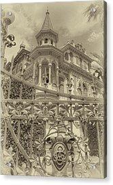 Albert Chamas Villa Acrylic Print by Nigel Fletcher-Jones