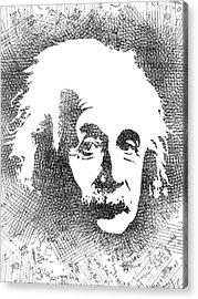 Albert Einstein Bw  Acrylic Print by Mihaela Pater