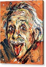 Albert Einstein Acrylic Print by Natasha Mylius
