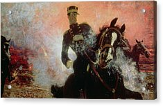Albert I King Of The Belgians In The First World War Acrylic Print by Ilya Efimovich Repin