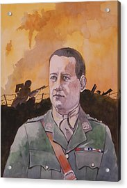 Acrylic Print featuring the painting Albert Jaka Vc by Ray Agius