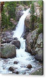 Alberta Falls Acrylic Print by David Yunker