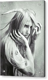 Albino Demon Acrylic Print by Cambion Art