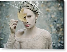 Albino In Forest. Prickle Tenderness Acrylic Print
