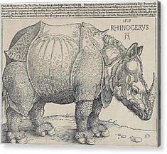 Albrecht Durer's Rhinocerus  1515 Acrylic Print