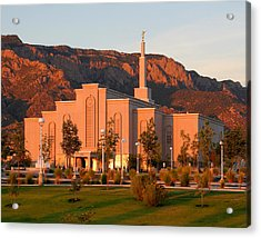 Albuquerque Lds Temple At Sunset 1 Acrylic Print