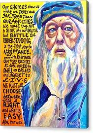 Albus Acrylic Print by Alicia VanNoy Call