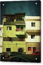 Acrylic Print featuring the photograph Alcala, Another Green House by Anne Kotan