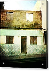 Acrylic Print featuring the photograph Alcala Blue House No1 by Anne Kotan