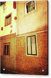 Acrylic Print featuring the photograph Alcala, Fiesta House by Anne Kotan