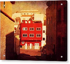 Acrylic Print featuring the photograph Alcala Red House No1 by Anne Kotan