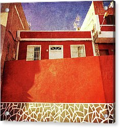 Acrylic Print featuring the photograph Alcala Red House No2 by Anne Kotan