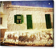 Acrylic Print featuring the photograph Alcala White And Green House by Anne Kotan