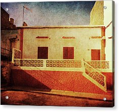 Acrylic Print featuring the photograph Alcala Yellow Red House by Anne Kotan