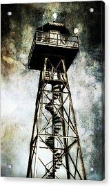 Alcatraz Island Guard Watchtower  Acrylic Print by Jennifer Rondinelli Reilly - Fine Art Photography