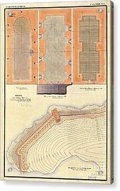 Alcatraz North Battery Drawing1856   Acrylic Print