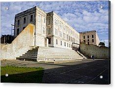Alcatraz Prison Courtyard Acrylic Print by Gravityx9 Designs